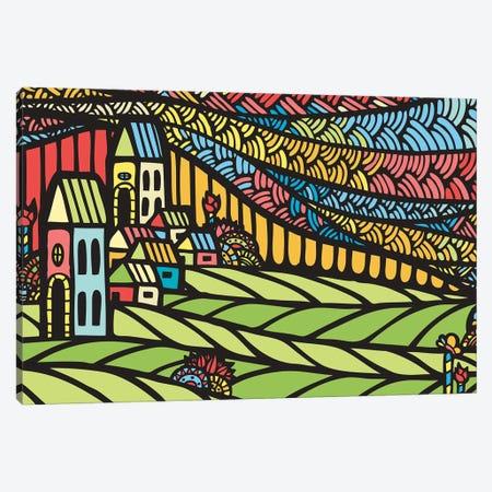 Houses Canvas Print #NIN31} by Ninhol Art Print