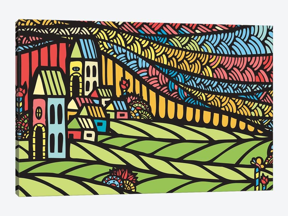 Houses by Ninhol 1-piece Canvas Art Print