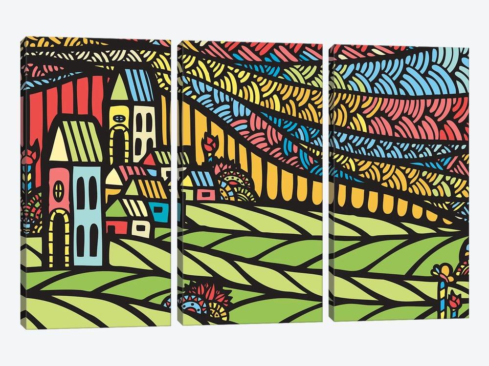 Houses by Ninhol 3-piece Canvas Print