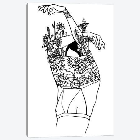 Inner Beauty Canvas Print #NIN34} by Ninhol Canvas Wall Art