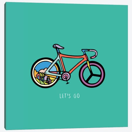 Let's Go Canvas Print #NIN36} by Ninhol Canvas Art