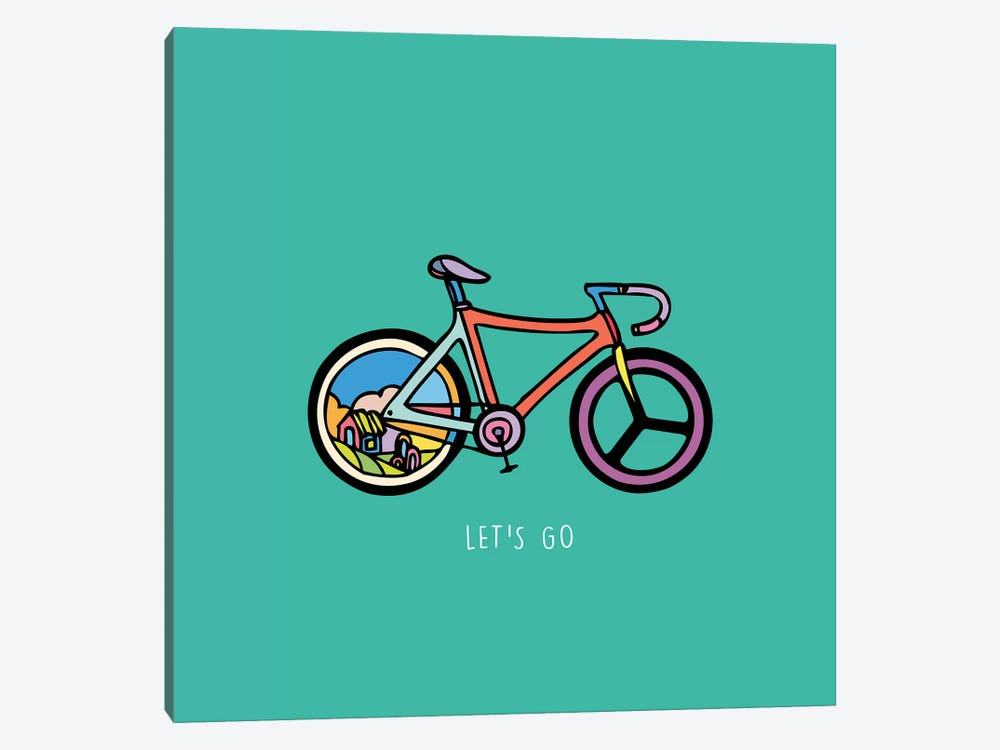 Let's Go by Ninhol 1-piece Canvas Wall Art
