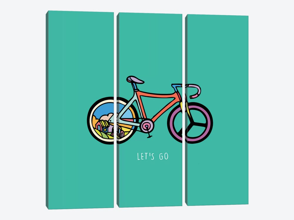 Let's Go by Ninhol 3-piece Canvas Wall Art