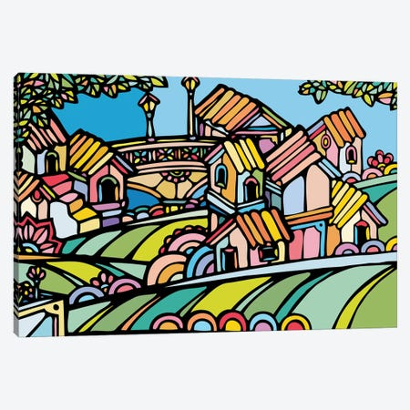Little Houses Canvas Print #NIN37} by Ninhol Canvas Art