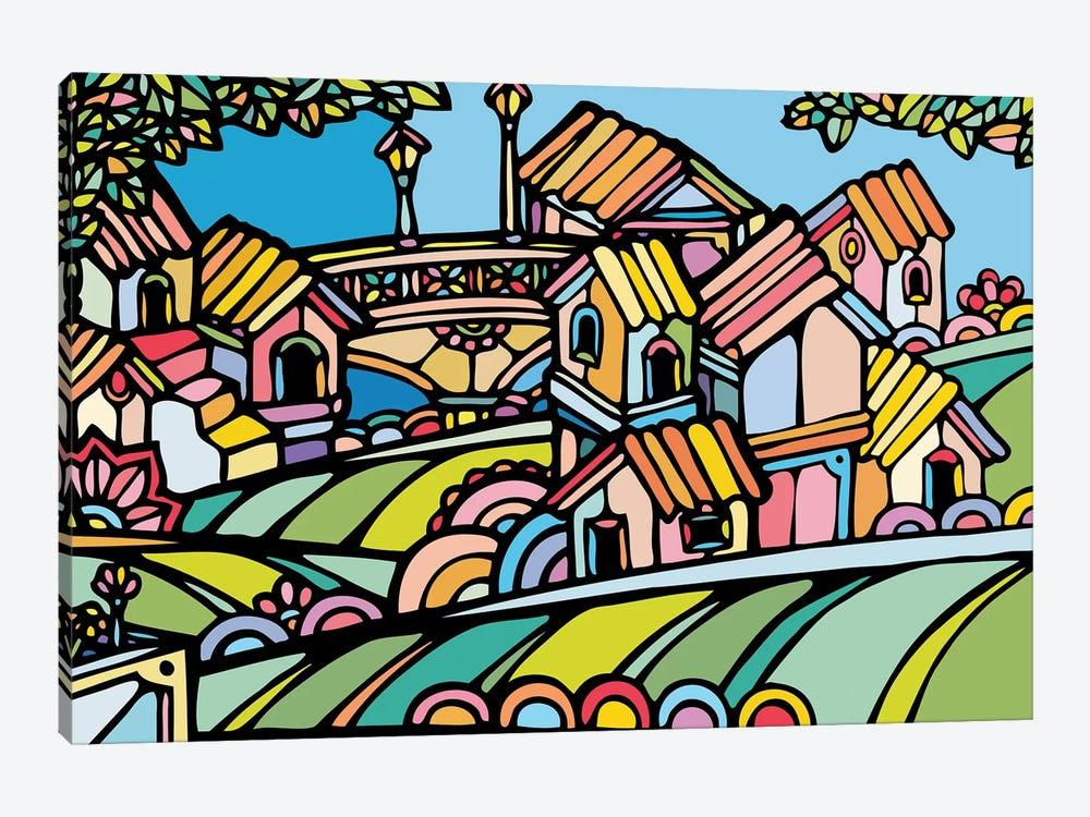 Little Houses by Ninhol 1-piece Canvas Print