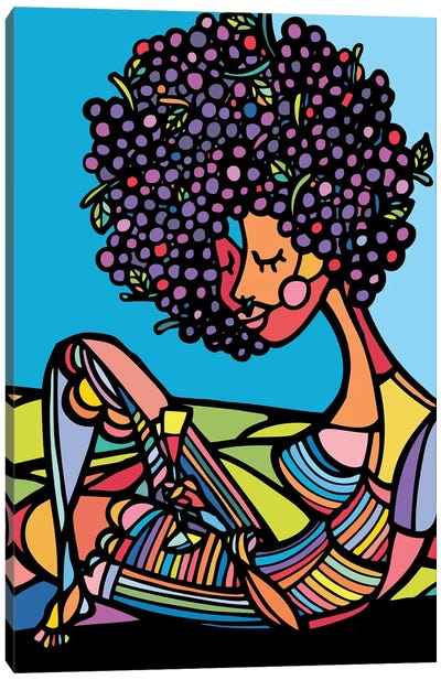 Afro Canvas Art Print