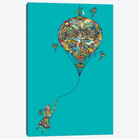 Balloon Girl Canvas Print #NIN6} by Ninhol Canvas Artwork
