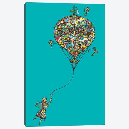 Balloon Girl 3-Piece Canvas #NIN6} by Ninhol Canvas Artwork