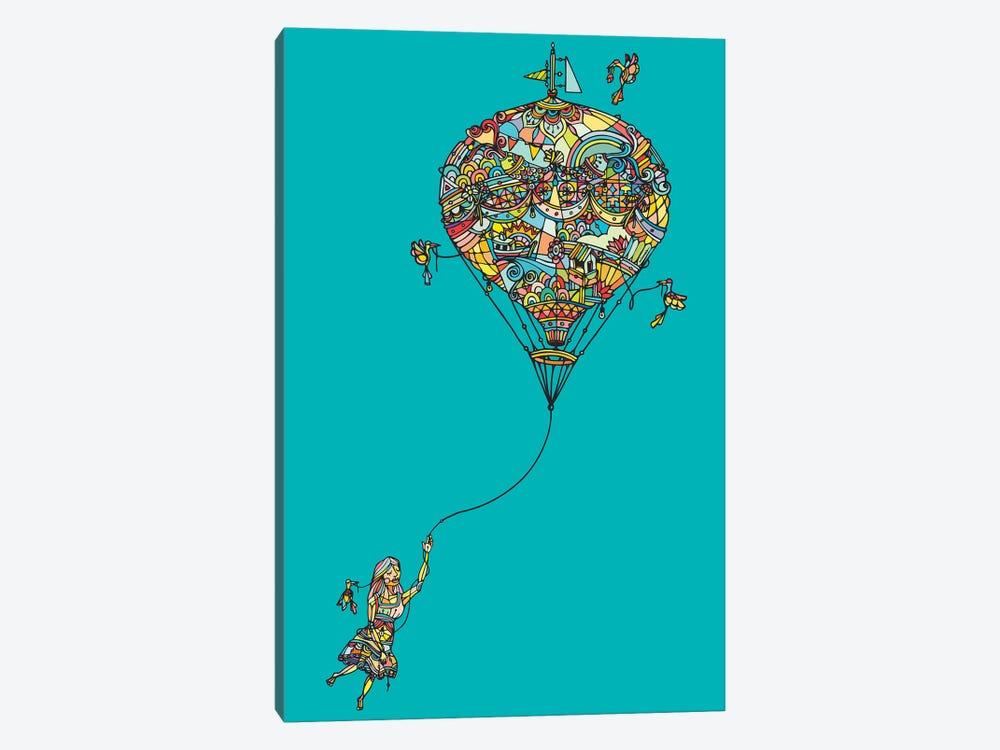 Balloon Girl by Ninhol 1-piece Canvas Wall Art