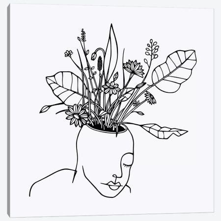 The Spring Head Canvas Print #NIN77} by Ninhol Canvas Art
