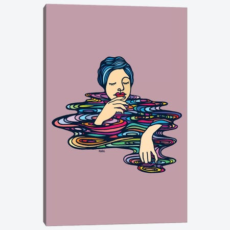 All Colors Inside Me Canvas Print #NIN93} by Ninhol Art Print
