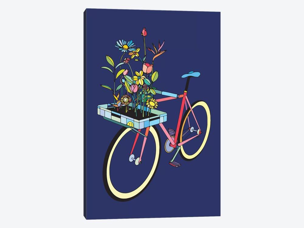 Bike And Flowers by Ninhol 1-piece Canvas Art Print