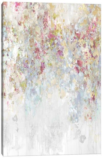 Cascade Magenta and Aqua Canvas Art Print