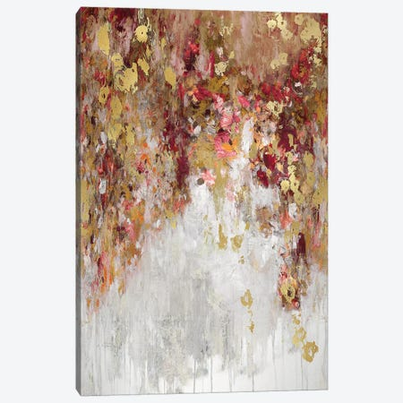 Cascade Red with Gold Canvas Print #NIR13} by Nikki Robbins Canvas Art Print