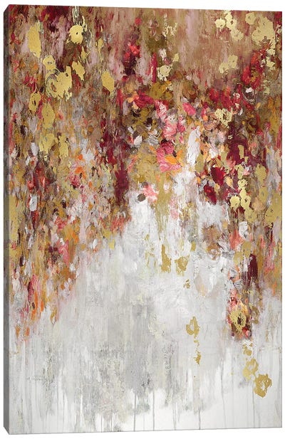 Cascade Red with Gold Canvas Art Print