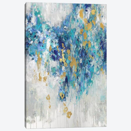 Cascading Blues III Canvas Print #NIR17} by Nikki Robbins Canvas Wall Art