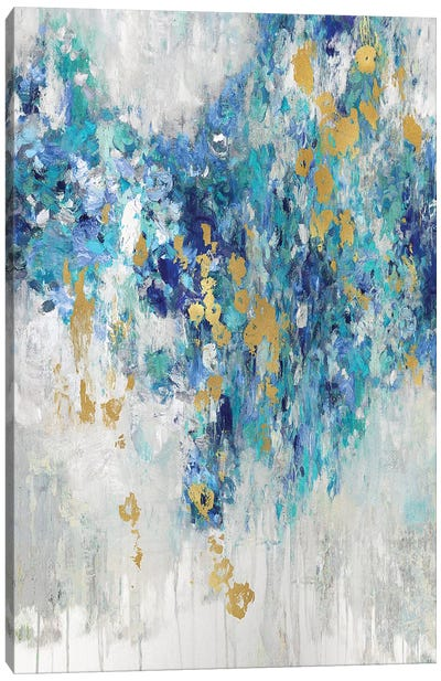 Cascading Blues III Canvas Art Print