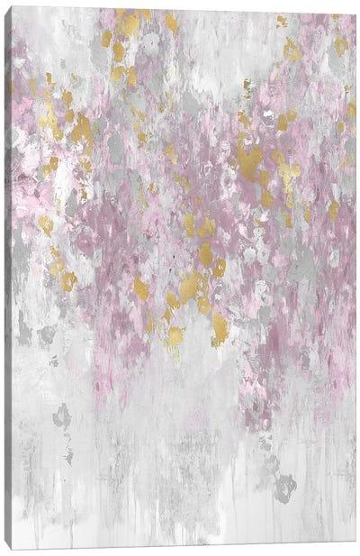 Cascading Blush Canvas Art Print