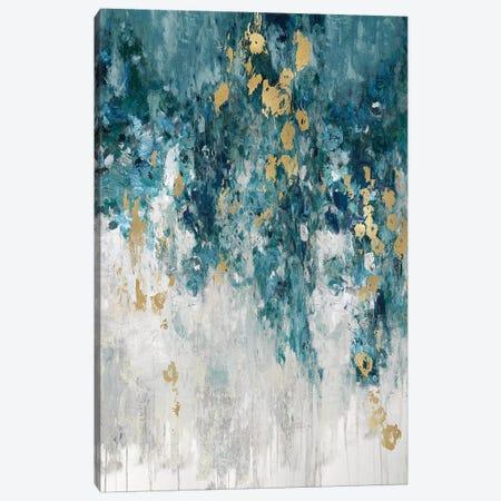 Cascading Cerulian Canvas Print #NIR19} by Nikki Robbins Canvas Art Print