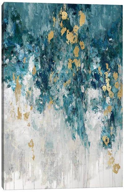 Cascading Cerulian Canvas Art Print