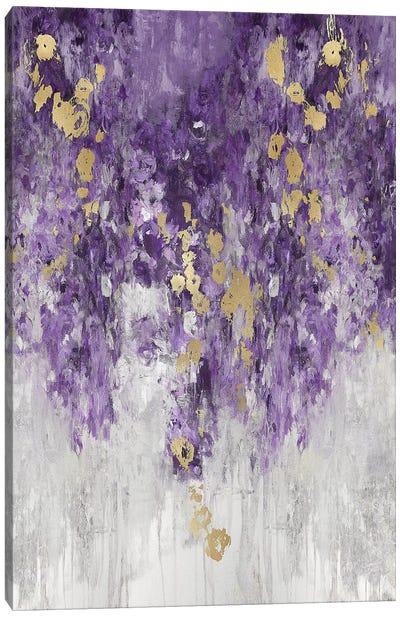 Cascading Purple Canvas Art Print