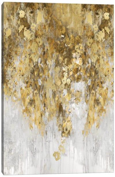 Cascade Amber and Gold Canvas Art Print