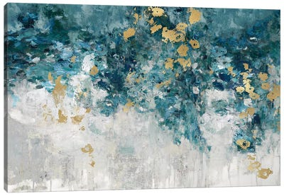 Charmed Teal Canvas Art Print