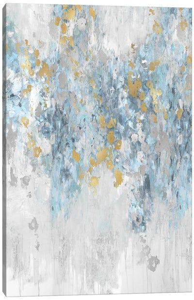 Cascade Aqua Canvas Art Print