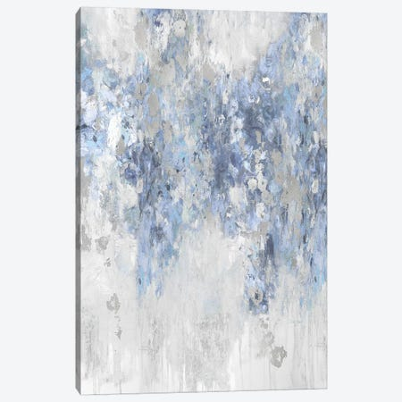 Cascade Blue with Silver Canvas Print #NIR5} by Nikki Robbins Canvas Print