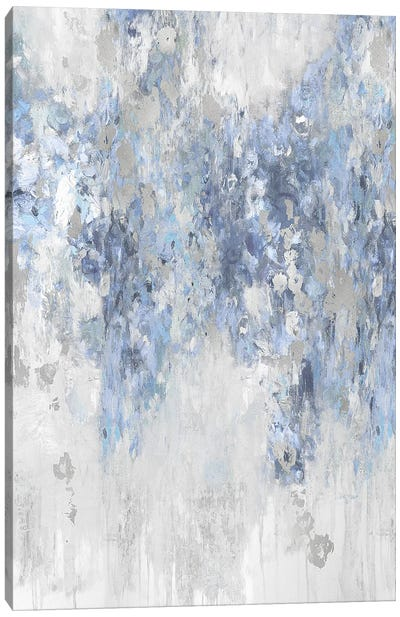 Cascade Blue with Silver Canvas Art Print