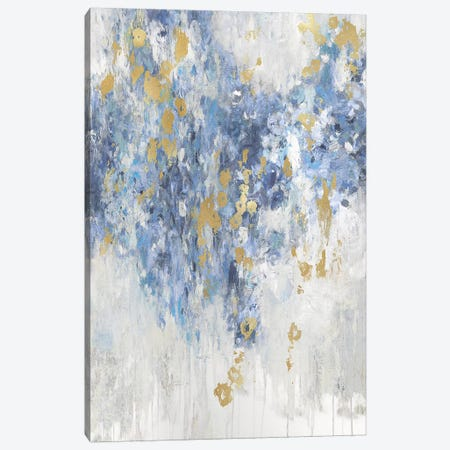 Cascade Indigo with Gold  Canvas Print #NIR6} by Nikki Robbins Art Print