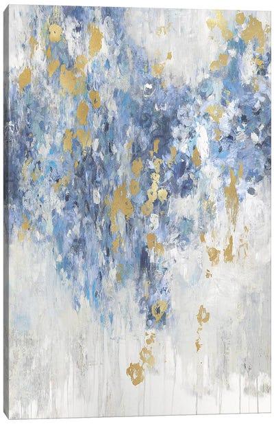 Cascade Indigo with Gold  Canvas Art Print