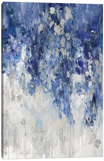Cascade Indigo with Silver Canvas Art Print