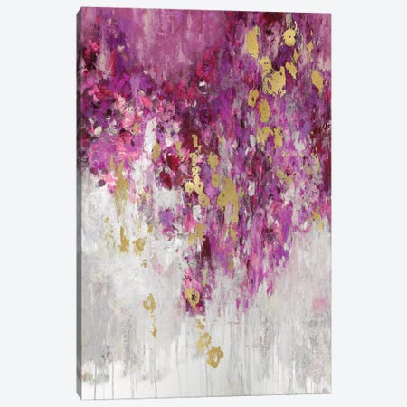Cascade Magenta Canvas Print #NIR9} by Nikki Robbins Canvas Wall Art