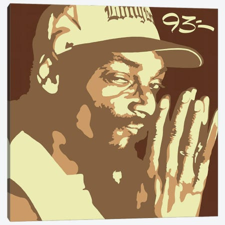 Snoop Dogg Canvas Print #NIT1} by 9THREE Canvas Artwork