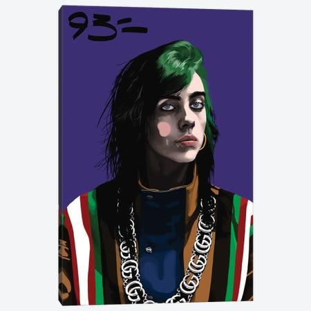 Billie Eilish Canvas Print #NIT28} by 9THREE Canvas Art