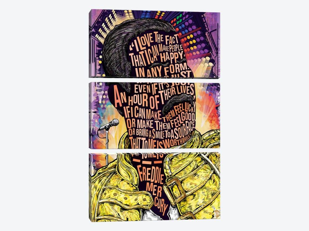 Freddie Merc by Nate Jones Design 3-piece Canvas Art Print