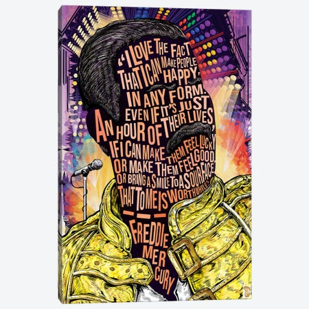 Freddie Merc Canvas Print #NJO10} by Nate Jones Design Canvas Wall Art