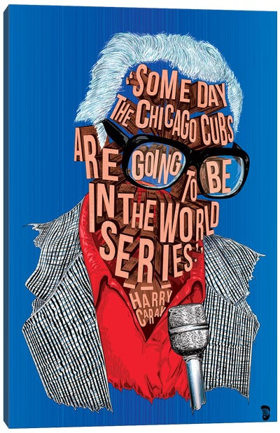 Harry Caray Canvas Art Print