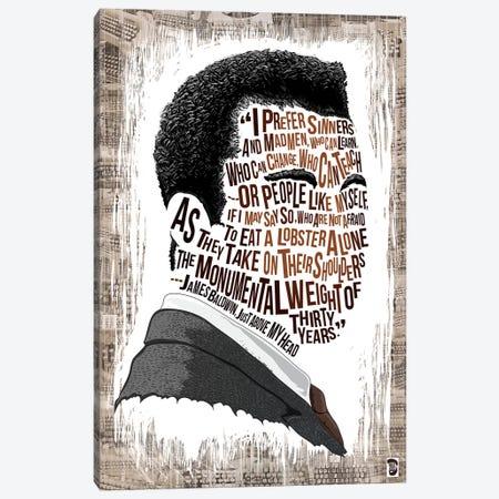 James Baldwin Canvas Print #NJO13} by Nate Jones Design Canvas Wall Art