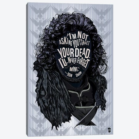 Jon Snow Canvas Print #NJO15} by Nate Jones Design Canvas Print