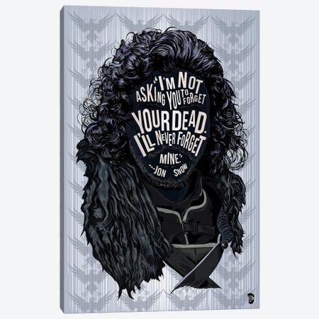 Jon Snow Canvas Print #NJO15} by Nate Jones Design Canvas Print