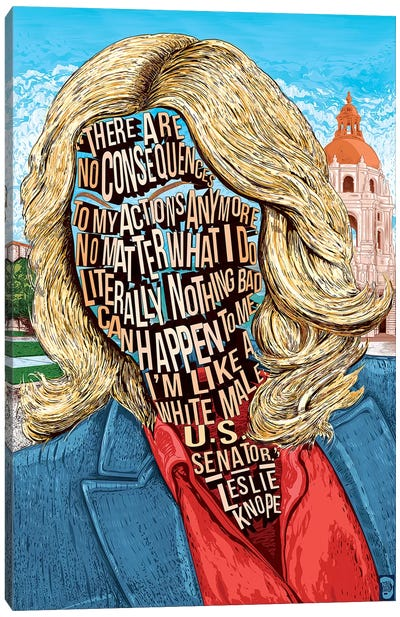 Leslie Canvas Art Print