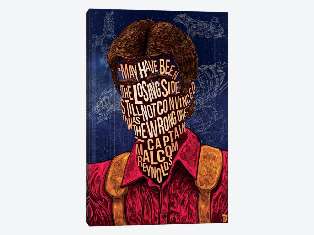 Mal Reynolds by Nate Jones 1-piece Canvas Art Print