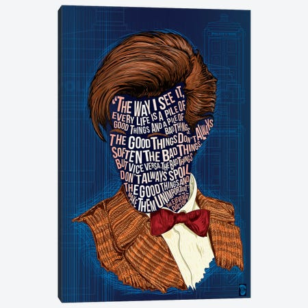 Matt Smith Canvas Print #NJO19} by Nate Jones Design Canvas Art