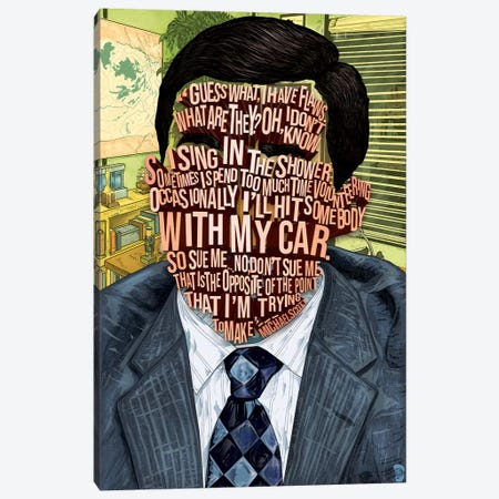 Michael Scott Canvas Print #NJO21} by Nate Jones Design Canvas Art Print