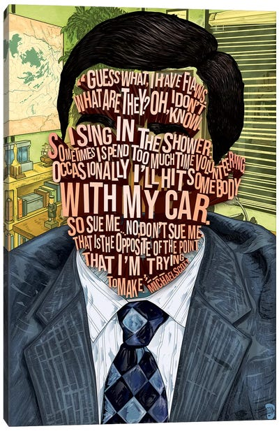 Michael Scott Canvas Art Print