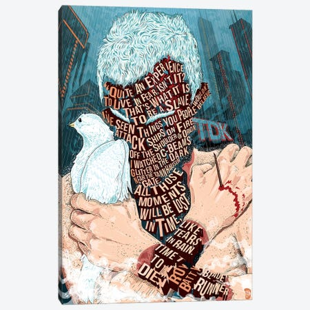 Roy Batty Canvas Print #NJO28} by Nate Jones Art Print