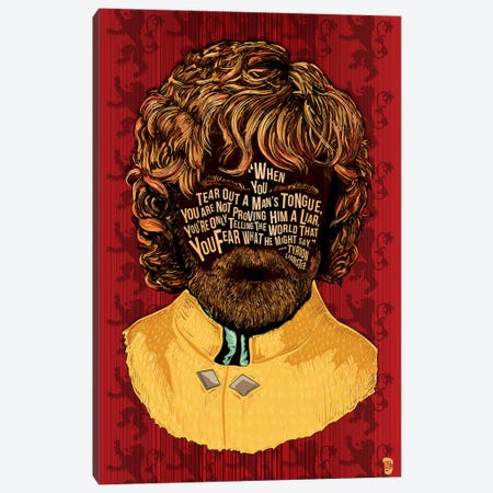Tyrion Canvas Print #NJO34} by Nate Jones Design Art Print