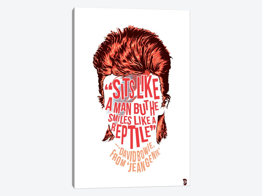 Bowie by Nate Jones Design 1-piece Canvas Wall Art